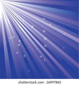 sparkling star vector background