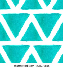 Sparkling turquoise acrylic seamless pattern background. Geometric shape texture.