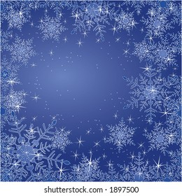 Sparkling  Winter Background (Fully Editable Vector Image)