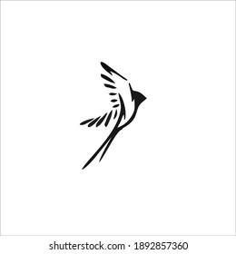 Sparrow Bird Symbol. Logo Design. Vector Illustration.