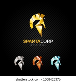 Sparta Helmet Logo Design Template
