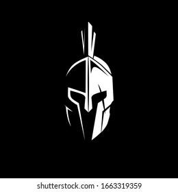 sparta helmet vector - sparta helmet Silhouette inthe dark