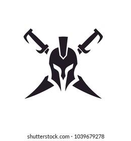 Sparta / Swords symbol for logo design inspiration