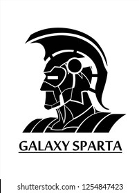 sparta , trojan warrior head,  creative concept for new appearance of warrior