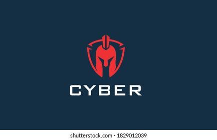 Spartan Cyber Vector Logo Design Inspiration