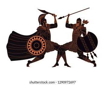 spartan fighting a persian