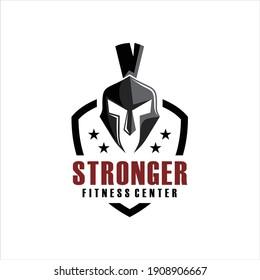 Spartan Fitness And Gym Logo Vector . Fitness Logo . Bodybuilding Logo design inspiration, sports logo template with spartan warriors.