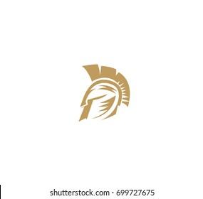 Spartan helmet icon, warrior, fighter, security, gladiator, strength, saviour, white background, vector illustration