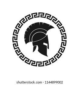 Spartan helmet logo design. Vector. Isolated.