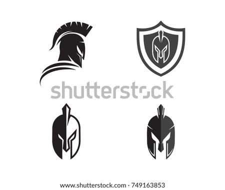 spartan helmet logo template vector icon stock vector royalty free