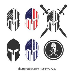 Spartan Helmet Sign Symbol Icon Vector Design