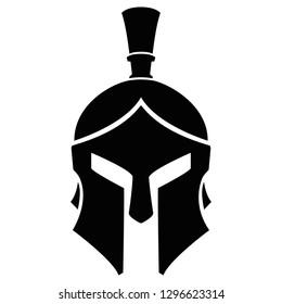 Spartan Helmet Warrior Icon Vector Silhouette Logotype Design