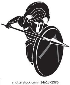 Spartan Hoplite Medieval Soldier Attack