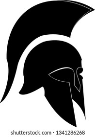 spartan hoplite warrior helmet vector illustration