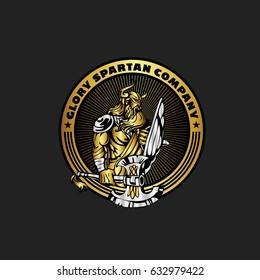 Spartan Knight Logo Vector