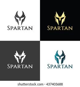 Spartan logo design template ,Helmet logo design concept ,Vector illustration