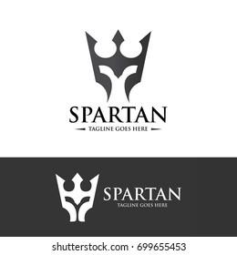 Spartan logo design template. Vector illustration