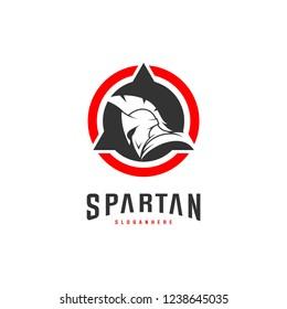 Spartan Logo design vector illustration . Spartan Helmet Logo template. Modern professional logo set for a sport team
