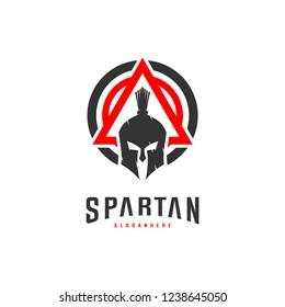 spartan logo design vector illustration spartan stock vector