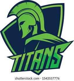 spartan logo helmet green color black background