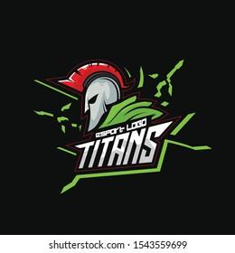 spartan logo helmet green color black backgroud