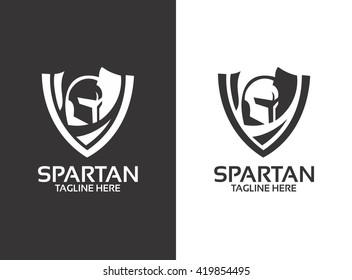 Spartan Logo. Spartan Helmet. Spartan Shield