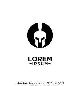 spartan logo icon designs vector