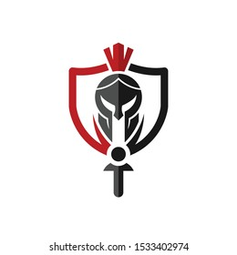 Spartan logo icon designs vector design. With your shield or on it,WARRIOR OF SPARTA, Crossed spears, Spartan shield, helmet. Spartan logo. Old Vintage Antiques Spartan warrior vector illustration.