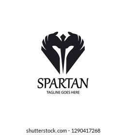 Spartan logo. Warrior logo. Horse logo design concept. Vector illustration