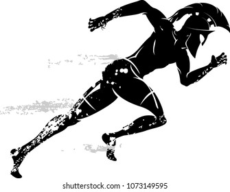 Spartan Race Male Running with Helmet