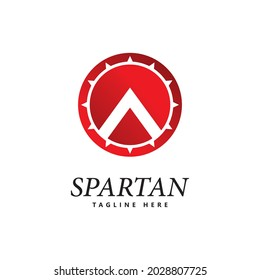 spartan shield logo icon vector