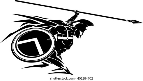 Spartan Spear Abstract