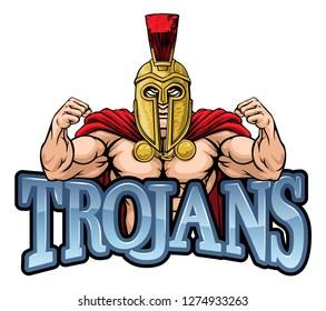 A Spartan or Trojan warrior sports mascot