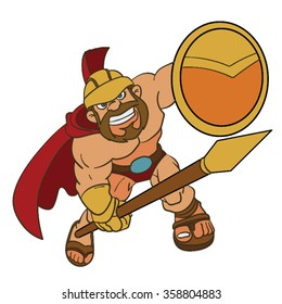 spartan warrior cartoon