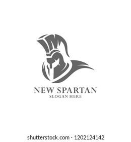 Spartan warrior logo design vector illustration. Warriors sport team logo design.