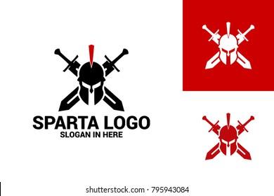 Spartan Warrior Logo Template Design Vector, Emblem, Design Concept, Creative Symbol, Icon
