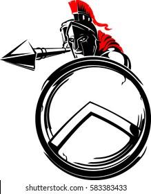 Spartan Warrior Shielded Attack