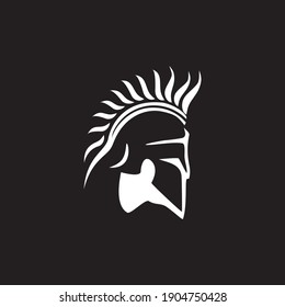 Spartan warrior symbol, emblem. Spartan helmet logo,   Spartan Greek gladiator helmet logo
