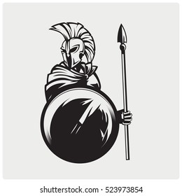 Spartans symbol illustration design.
