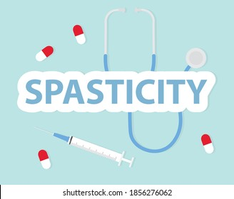 Spasticity word concept- vector illustration