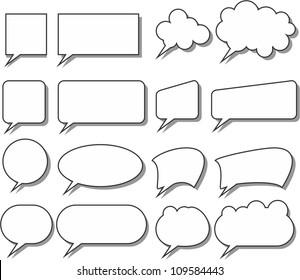 speak bubbles