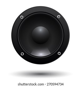 speaker cone isolated on white background