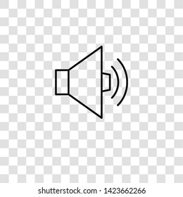 speaker icon from activist collection for mobile concept and web apps icon. Transparent outline, thin line speaker icon for website design and mobile, app development