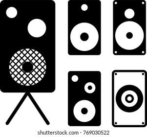 Speaker Icon Collection Design Vector Art Illustration