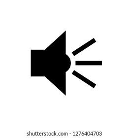 Speaker Icon. Loudspeaker Vector. Noise Sign. Volume Level Symbol.