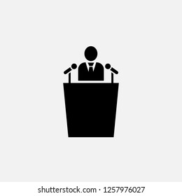 Speaker icon. Orator concept symbol design. Stock - Vector illustration can be used for web