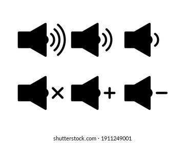 Speaker icon set vector. sound symbol vector illustration