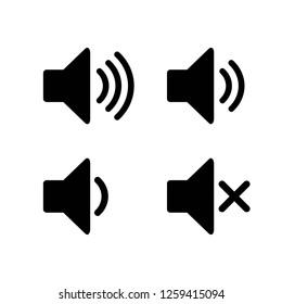 Speaker icon set vector. Volume icon. Loudspeaker icon vector