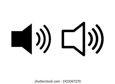 Speaker icon set. volume icon vector. loudspeaker icon vector. sound symbol