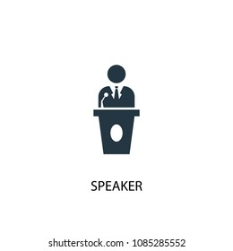 Speaker icon. Simple element illustration. Speaker concept symbol design from Elections collection. Can be used for web and mobile.